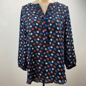 NYDJ Blouse, Size S with clocks